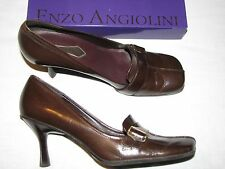 Enzo Angiolini Eadanette Dark Brown leather 9 M Oxfords Loafers Pumps Classic 9M