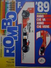 ROMBO 1 1989  con poster Ayrton Senna a grandezza naturale 1:1 - 4 uscita