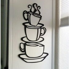 Three Coffee Cups Wall Sticker Art Home Decal Kitchen PVC Wall Decor New UR