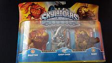 Skylanders Spyro 's Adventure 3er-set (Eruptor, Chop Chop, Bash) - NUOVO & OVP
