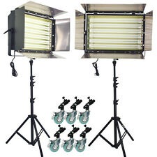 3300W Fluorescent Light 6 Bank Continuous Lighting DayLight Flicker free 2 set