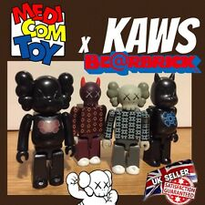 Rare Authenic KAWS x Medicom Set Bundle 100% Bearbrick Figure Urban Vinyl Toy