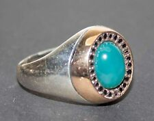 Sterling Silver 925 men ring,unique spectacular jade stone