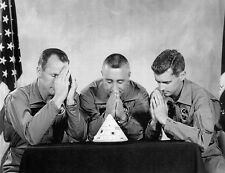 """RARE APOLLO 1 CREW """"PRAYING HANDS"""" PHOTO SET SHOWING GRISSOM, WHITE AND CHAFFEE"""