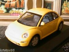VW VOLKSWAGEN NEW BEETLE 1998 MINICHAMPS YELLOW 1/43 JAUNE COCCINELLE
