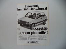 advertising Pubblicità 1980 INNOCENTI MINI 1000