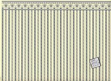 """Regency Blue Stripe"" miniature wallpaper Jackson's Miniatures dollhouse JM01"