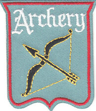 """""""ARCHERY"""" BOW & ARROW-Iron On Embroidered Patch /Sport, Games, Competition"""