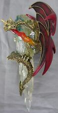 Ashton-Drake Galleries Fire and Ice Dragon Ornament Gold Body w/ Red Wings