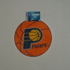 """INDIANA PACERS 14"""" ROUND BASKETBALL SHAPE CLASSIC  FELT WALL PENNANT NEW NBA"""