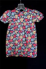 RARE FRENCH VINTAGE 1930'S-1940'S WWII ERA GIRLS COTTON FLORAL DRESS SZ  18-24M