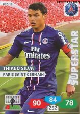 PSG-13 THIAGO SILVA # BRAZIL PARIS.SG CARD ADRENALYN FOOT 2014 PANINI