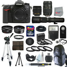 Nikon D7100 SLR Camera Body + 5 Lens Kit: 18-55mm VR + 70-300mm + 500mm and More