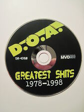 D.O.A. Greatest Shits 1978-1998 DVD. (Punk! Greatest Hits! Vancouver B.C. cbgb)