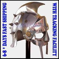 MEDIEVAL MAXIMUS DECIMUS MERIDIUS GLADIATOR ARMOR HELMET COSTUME FREE STAND GR