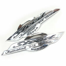 CHROME PLASTIC GAS TANK DECAL BADGE EMBLEM for HONDA SHADOW STEED VLX 400 600 VT