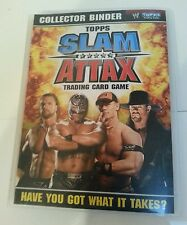 Wwe: topps slam attax trading card binder avec cartes, 2008, presque complet