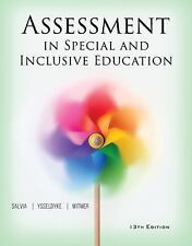 Assessment in Special and Inclusive Education by John Salvia 978130564235 Book