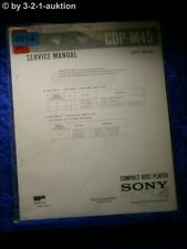 Sony Service Manual CDP M45 CD Player (#5014)