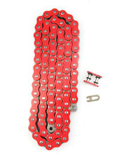 Red 530x120 O-Ring Drive Chain Motorcycle 530 Pitch 120 Links 8200# Tensile
