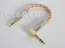 "chf0a 12cm 5"" Headphone Amp Aux OFC Cable 3.5mm Stereo L Jack Mac Mini iPhone"