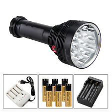 SKYRAY 20000 Lumens 16x CREE XML T6 LED Flashlight Torch 6x18650 Battery Charger