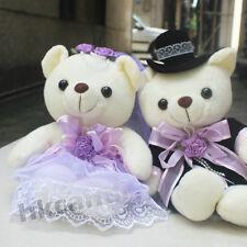 BG purple flower wedding Teddy Bear stuffed animals wedding gifts 35 CM