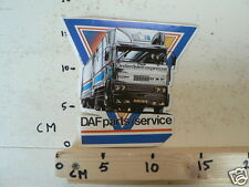 STICKER,DECAL DAF PARTS SERVICE TRUCK 2100 NOT 100 % OK LARGE