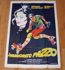 INNAMORATO PAZZO poster manifesto Celentano Ornella Muti Pattini Musica Cuffie