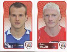 006 LUKE STEELE/BOBBY HASSELL BARNSLEY.FC STICKER FL CHAMPIONSHIP 2010 PANINI