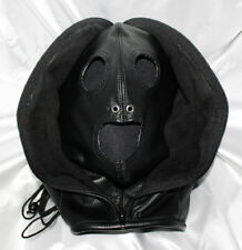 Leather Double Face Hood / Insect Hood / Premium Leather Zip LOCKABLE, UK POST!