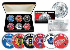 THE ORIGINAL SIX NHL TEAMS Royal Canadian Mint Medallions 6-Coin Set w/Gift Box