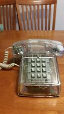 VINTAGE WESTERN ELECTRIC BELL SYSTEM CLEAR TELEPHONE!  PUSH BUTTON