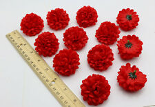 10 pcs Red Color Daisy Artificial Silk Flower Heads Bulk Wedding Party Decor