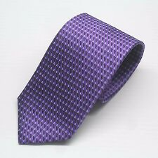 NWT $205 Ermenegildo Zegna Tie Purple and Blue Geometric Pattern Made in Italy