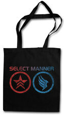 SELECT MANNER TASCHE STOFFTASCHE Symbols Symbole Mass Jack Commander Effect