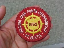 ORIGINAL KOREAN WAR 1953 FORT EUSTIS VIRGINIA HIGH POWER CHAMPIONSHIP PATCH