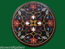 Black Marble Center Coffee Table Top Inlay Handmade Work Home Decor Gifts
