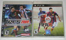 PS3 Game Lot - EA Sports FIFA 15 (New) PES 2009 Pro Evolution Soccer (New)