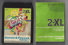 MEGO  2XL TALKING ROBOT 8 TRACK TAPE GAMES AND PUZZLES NUMBER 1 W/ BOOKLET WORKS