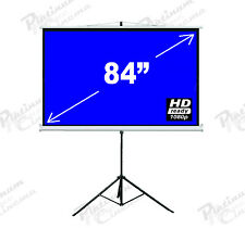 "New 84"" Portable Tripod Projection Screen home cinema Projector Glass Bead 4:3"