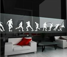 9PCS Soccer Football Players Wall Art Stickers Removable Vinyl Sports Decal