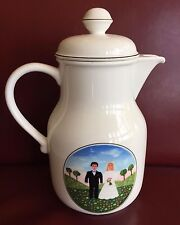 Villeroy & Boch Naif Wedding Coffee Pot w/ lid Excellent