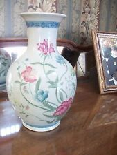 Antique/Vintage Fleur de Chantilly Porcelain VASE Hand Painted Signed andrea
