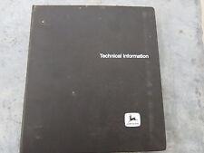 John Deere 60 & 70 Skid Steer Loader Technical Service Manuals Lot of 2 inbinder