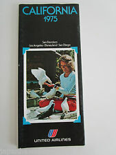 UNITED AIR LINES CALIFORNIA holidays vacation tours package 1977 Disneyland