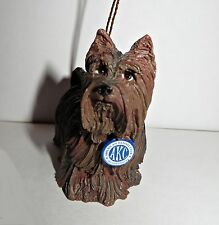 NEW AKC 2004 Dog Yorkshire Terrier Figurine Christmas Tree Ornament