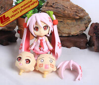 "ANIME VOCALOID Nendoroid Sakura Hatsune Miku 4"" Action Figure 3Faces Gift toy"