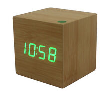 Box - The Wooden LED Clock - Wood with Green LED