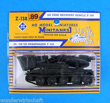 Roco Minitanks H0 Z 138 89 KRAN-PANZER T 119 US Army Wrecker HO 1:87 Blister OVP